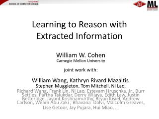 Learning to Reason with Extracted Information