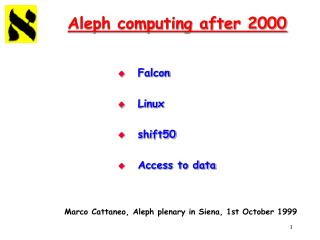 Aleph computing after 2000