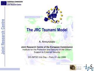 The JRC Tsunami Model