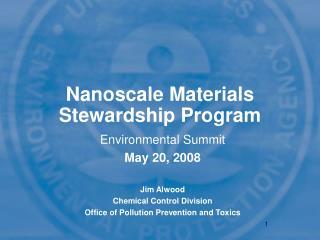 Nanoscale Materials Stewardship Program