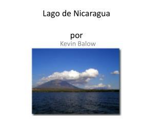 Lago  de Nicaragua por
