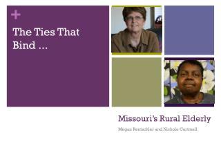 Missouri's Rural Elderly