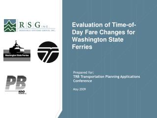 Evaluation of Time-of-Day Fare Changes for Washington State Ferries