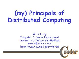(my) Principals of Distributed Computing