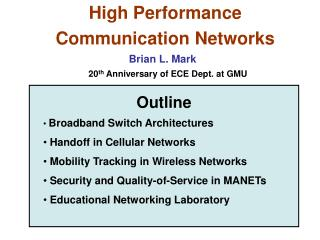 High Performance  Communication Networks