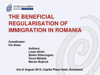 3rd of August 2010, Capital Plaza Hotel, Bucharest
