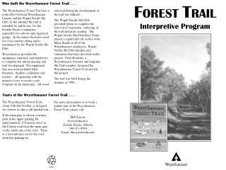 F OREST  T RAIL Interpretive Program