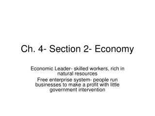 Ch. 4- Section 2- Economy