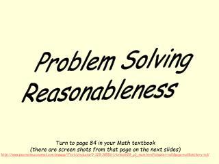 Problem Solving Reasonableness