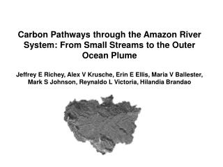 Carbon Pathways through the Amazon River System: From Small Streams to the Outer Ocean Plume