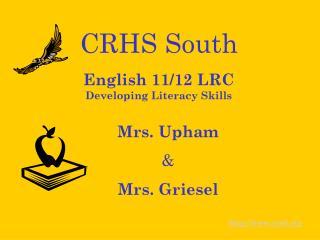 English 11/12 LRC Developing Literacy Skills