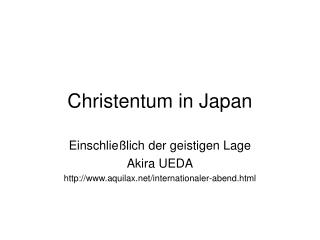 Christentum in Japan