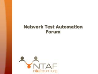 Network Test Automation Forum