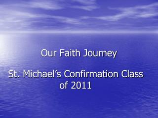 Our Faith Journey