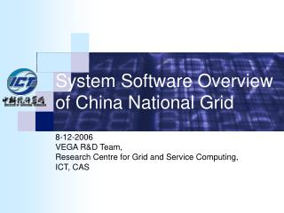 System Software Overview of China National Grid