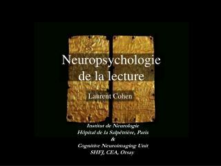 Neuropsychologie de la lecture