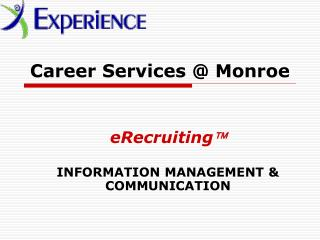 Career Services @ Monroe