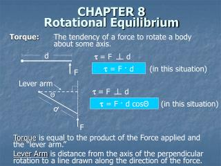 CHAPTER 8 Rotational Equilibrium