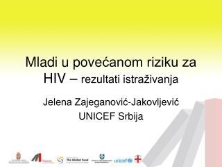 Mladi u pove ćanom riziku za HIV –  rezultati istraživanja