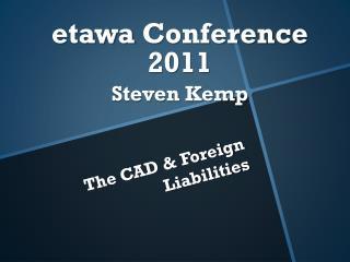 etawa  Conference 2011 Steven Kemp