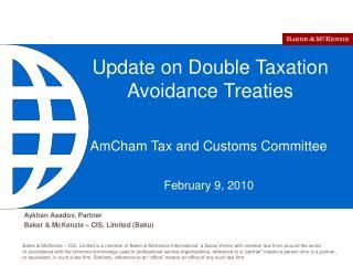Update on Double Taxation Avoidance Treaties