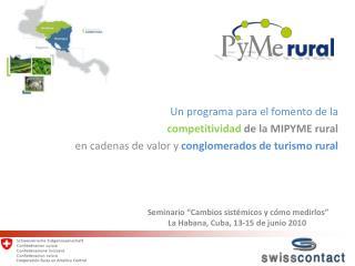 Un programa para el fomento de la  competitividad  de la MIPYME rural