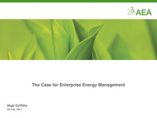 The Case for Enterprise Energy Management