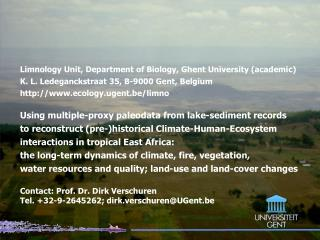 Limnology Unit, D epartment of Biology, Ghent University (academic)