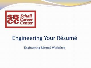 Engineering Your Résumé