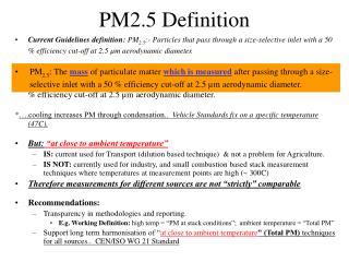 PM2.5 Definition
