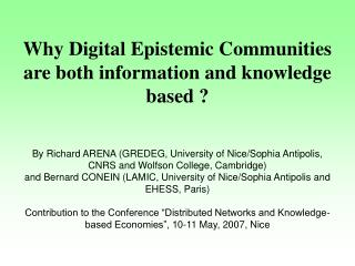 1. Digital communities: empirical variety and analytical typology