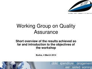 Working  G roup on Quality Assurance