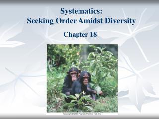 Systematics:  Seeking Order Amidst Diversity