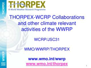 The IPY-THORPEX CLUSTER LEGACY