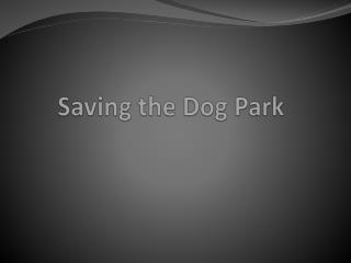 Saving the Dog Park