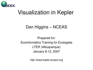 Visualization in Kepler