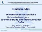 Mag.a Astrid Winkler,  Gesch ftsf hrerin ECPAT  sterreich