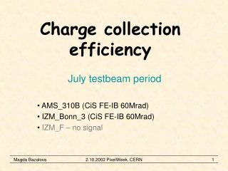 Charge collection efficiency