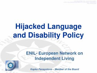 Hijacked Language and Disability Policy
