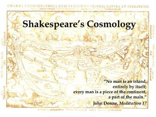Shakespeare's Cosmology