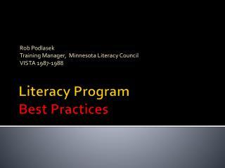 Literacy Program  Best Practices