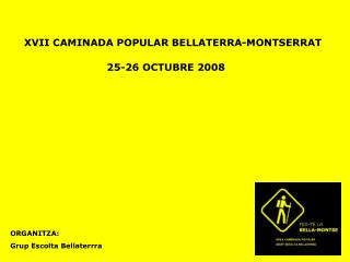 XVII CAMINADA POPULAR BELLATERRA-MONTSERRAT