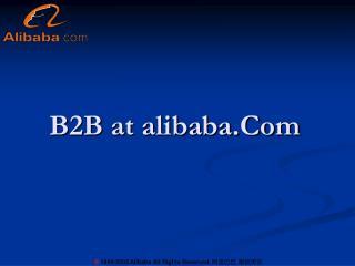 B2B at alibaba.Com