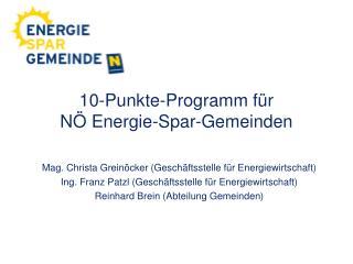 10-Punkte-Programm f r  N  Energie-Spar-Gemeinden