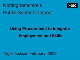 Nottinghamshire's  Public Sector Compact