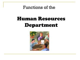 Functions of the Human Resources Department