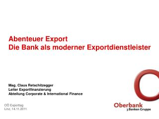OÖ Exporttag Linz,  1 4.11.2011