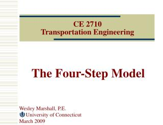 CE 2710 Transportation Engineering