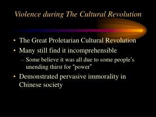 Violence during The Cultural Revolution