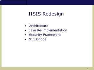 IISIS Redesign
